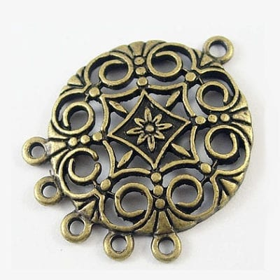 Newly Arrived Gorgeous Bronze Metal Pendant - (30mmx24mm) 8