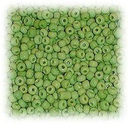 6/0 Light Green Matt Finish Glass Seed Beads - (10 grams) 4