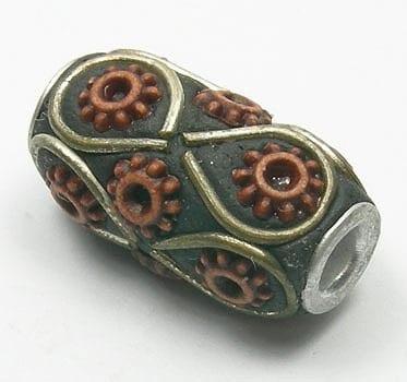 Kashmiri Bead - Model18 (10mm X 23mm) 1