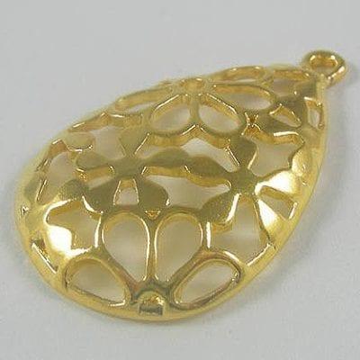 1 High Quality Teardrop Design Metal Pendant - (40mmx30mm) 7