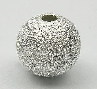 1 Silver Stardust Copper Metal Bead - Round (6mm) - M23 4