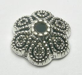 1 Newly Arrived Round Flower Metal Bead Caps - (12mm) 1