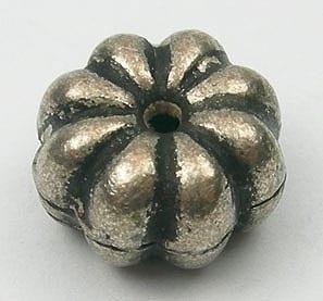 Antique Style Round Flower Metal Beads - 10mmX5mm 1