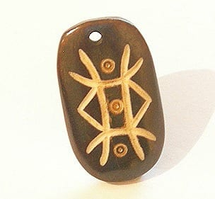 Bone Carved Pendant - Model 009 (30mmx20mm) 8