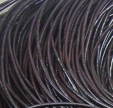 1 Meter Dark Brown Leather Cord (2mm) 5