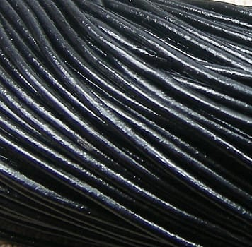 1 Meter Black Leather Chord For Jewellery Making - (1mm) 1