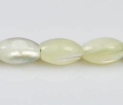 10 Medium Oval MOP Beads - (9mmX6mm) 4