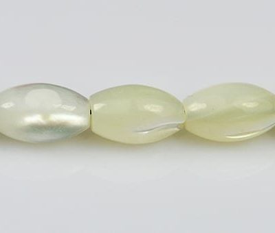 10 Small Oval MOP Beads - (8mmX4mm) 8