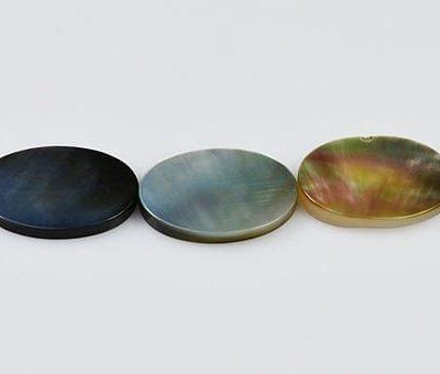 5 Dark Flat Oval MOP Slabs (13mmX18mm) 9