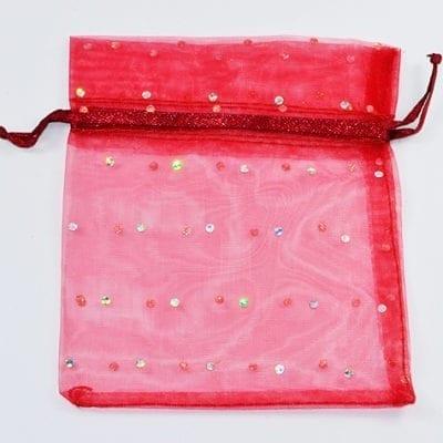 Red Organza Bags - (12cmx10cm) 18