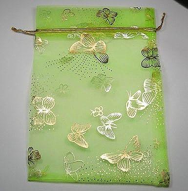 Green Satin Organza Bags 12