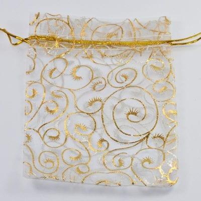 Golden Rose Organza Bags 10