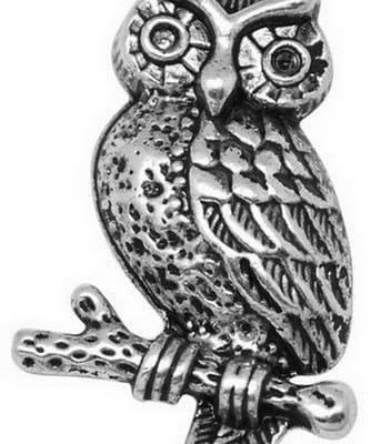1 Amazing Tibetan Style Owl Pendant - (33mmx18mm) 3