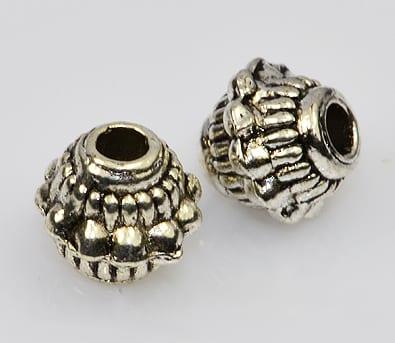 8 Tibetan Style Stunning Metal Beads (7.5mmX6mm) - M33 13