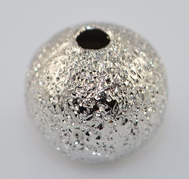 10 Medium Silver Stardust Metal Beads - Round (6mm) 8