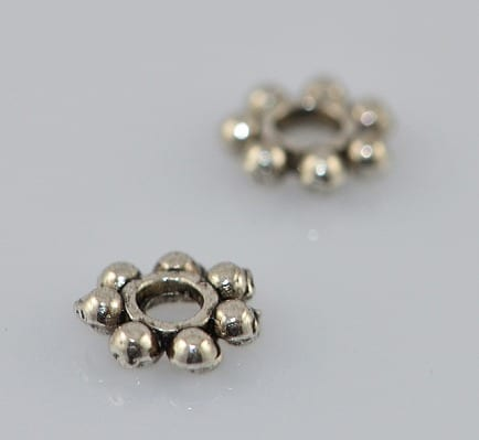 Classical Round Silver Metal Spacer Beads - (5mm) - M20 1