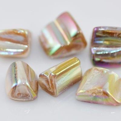 """50 Burlywood Erose Dyed Shell Beads 16"""" Strand - (8mmx10mm) 2"""