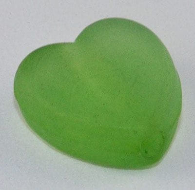 10 Heart Dark Green Frosted Acrylic Beads - (9mmx8mm) 5