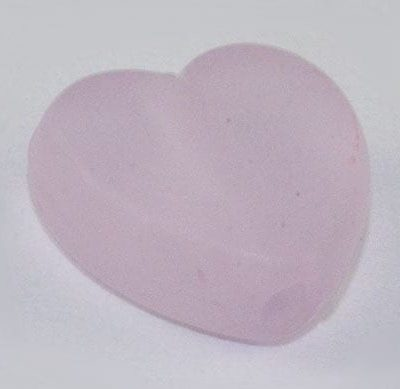 10 Heart Light Purple Frosted Acrylic Beads - (9mmx8mm) 5
