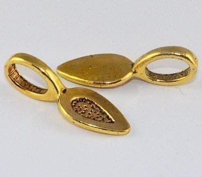 1 New Gold Glue-On Flat Metal Bail - (22mmx8mm) 1