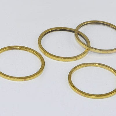 10 Round Gold Metal Linking Rings (14mm) - M19 7
