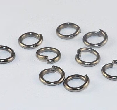 50 Black Plated Jump Rings (4mm) 7