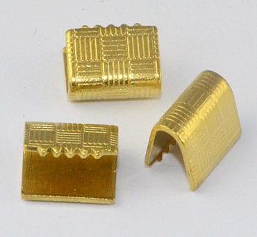 10 Gold Elegant New Metal Ribbon Connectors - (8mmx6mm) 5