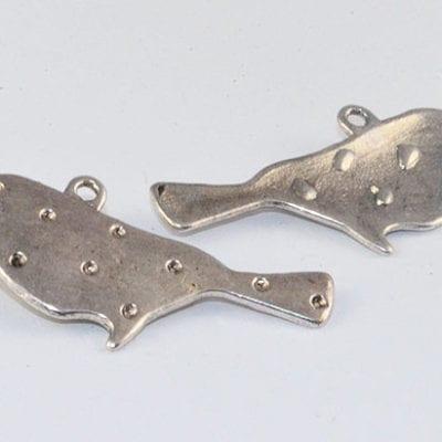 1 Silver Bird Pendant/Charm (31mmx15mm) - M10 15