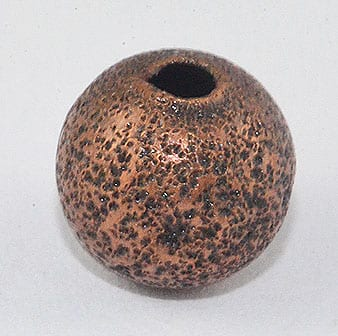 10 Copper Coloured Stardust Round Metal Bead - (8mm) - M24 2