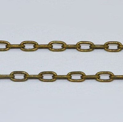 Bronze Rectangle Links Metal Loose Jewelry Chain - (3mmx1.2mm) 5