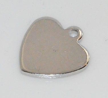1 Impressive Silver Heart Pendant - (10mmx10mm) - M10 11