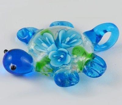 1 Tortoise Shape Murano Glass Pendant - (45mm) 1