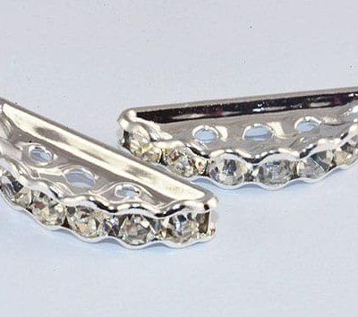 Grade 'A' Rhinestone Multi Strand Linking Bead - (19mm) 12