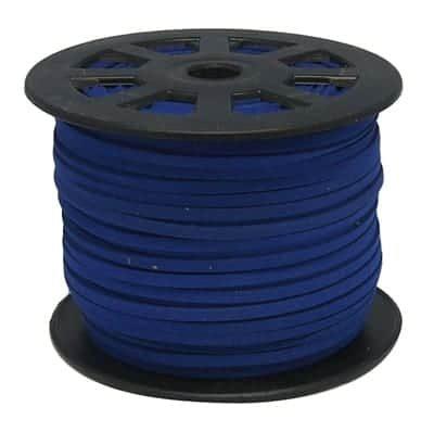 1 Meter Dark Blue Faux Suede Flat Chord - (3mm) 7