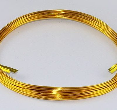 10 Meters Gold Aluminium Wire Roll - (0.8mm) 3