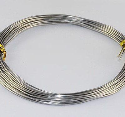 10 Meters Platinum Aluminium Wire Roll - (0.8mm) 5