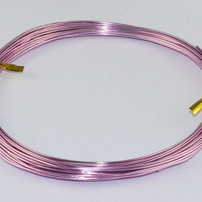 10 Meters Pearl Pink Aluminium Wire Roll - (0.8mm) 4