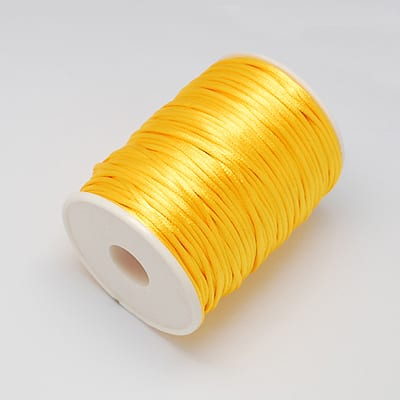 3 Meters Bright Yellow Nylon Thread - (2mm) 4