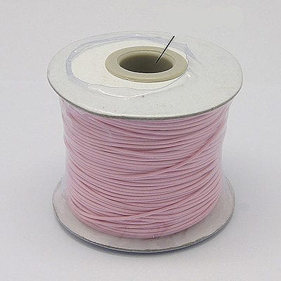 2 Meter Light Pink Cotton Waxed Wire - (1mm) 9