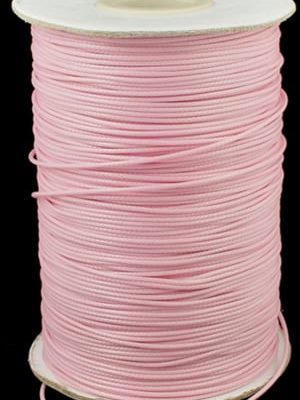 2 Meter Light Pink Polyester Waxed Wire - (1mm) 10