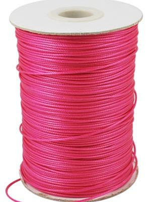 2 Meter Dark Pink Polyester Waxed Wire - (1mm) 6