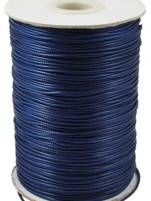 2 Meter Dark Blue Polyester Waxed Wire - (1mm) 5