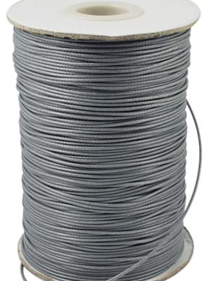 2 Meter Grey Polyester Waxed Wire - (1mm) 8