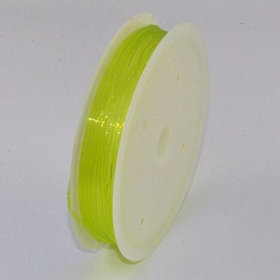 One Lime Green Elastic Stretchy Wire Spool - (5 meters) 17