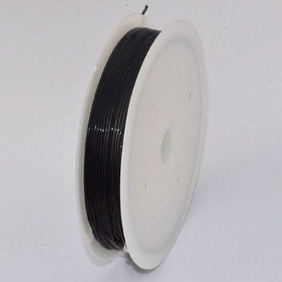 One Black Elastic Stretchy Wire Spool - (5 meters) 14