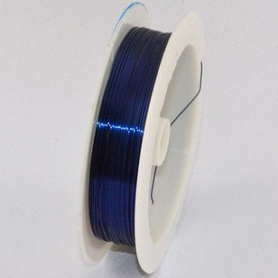 10 Meters Dark Blue Copper Wire Spool - (0.4mm) 3