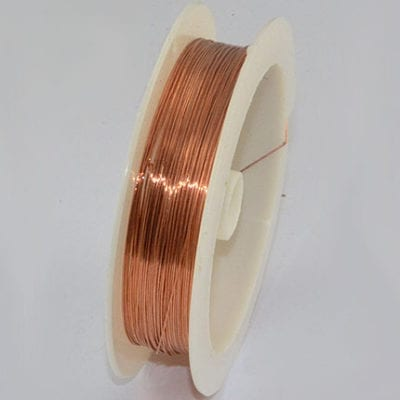 10 Meters Light Topaz Copper Wire Spool - (0.4mm) 7