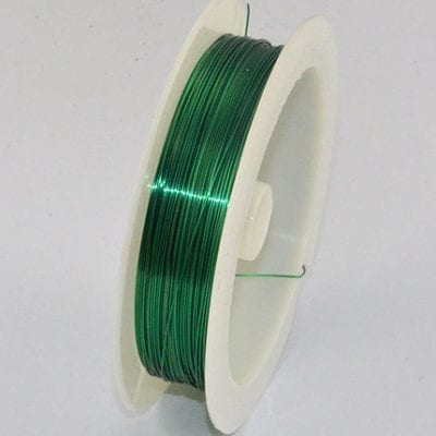 10 Meters Green Copper Wire Spool - (0.4mm) 5