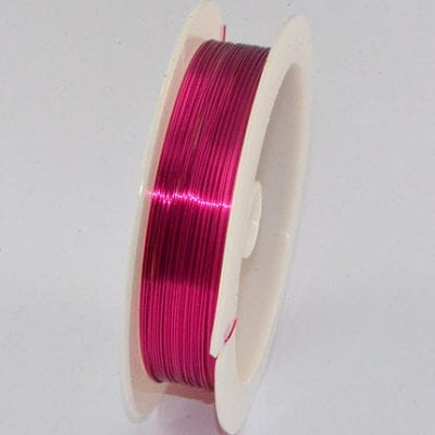 10 Meters Bright Pink Copper Wire Spool - (0.4mm) 1