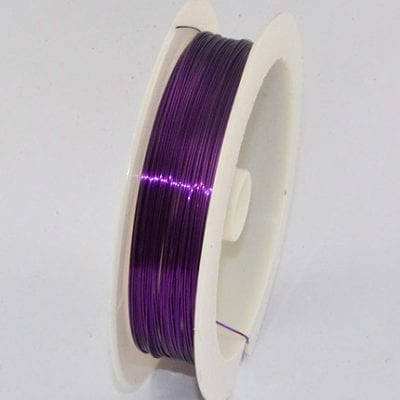 10 Meters Purple Copper Wire Spool - (0.4mm) 8